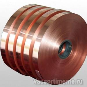 Бронзовая лента 0.1х300 мм БрКМц3-1 ГОСТ 4748-92